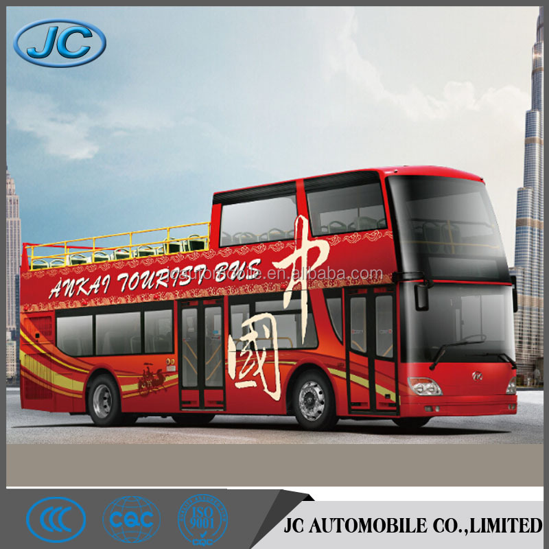 Ankai luxury tour bus half open top city sightseeing double decker bus for sale