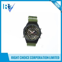 Wristwatch Alloy Case Nylon Strap Multifunctional Mechanical Vogue Chronograph Watch