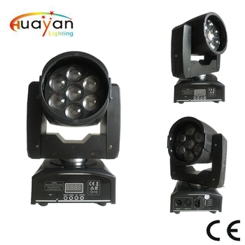 High quality LED Wash 7*15W moving head light with zoom colorful light shows on stage effect uplight