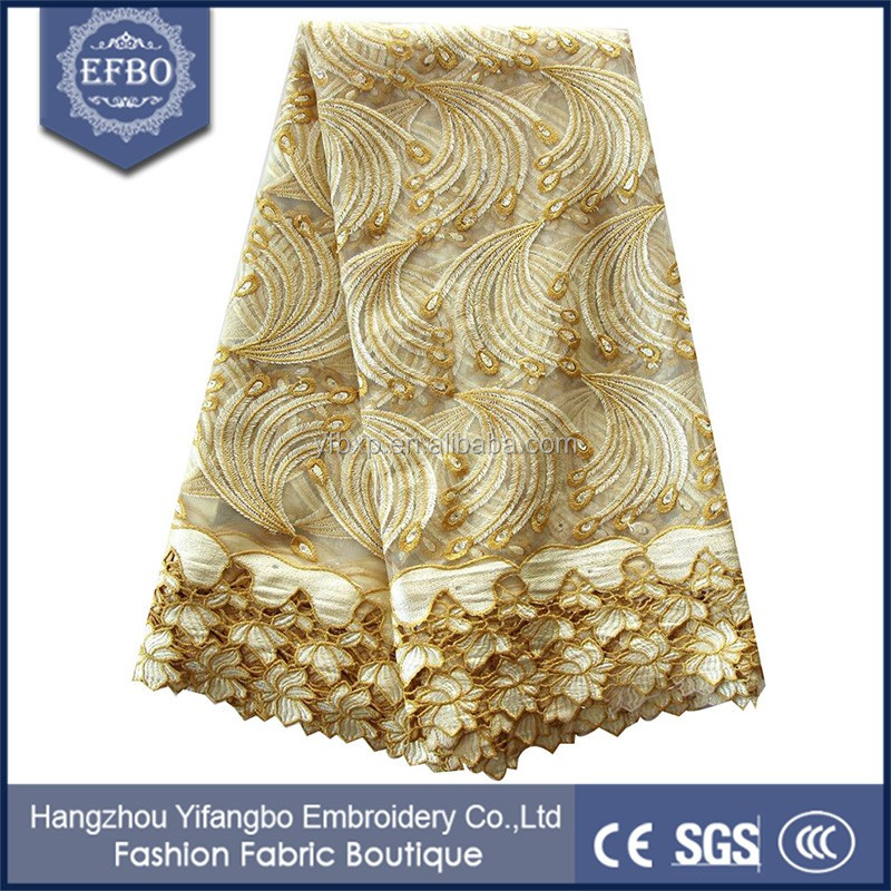 Wholesale beautiful net lace canada 2016 gold water soluble french lace with guipure
