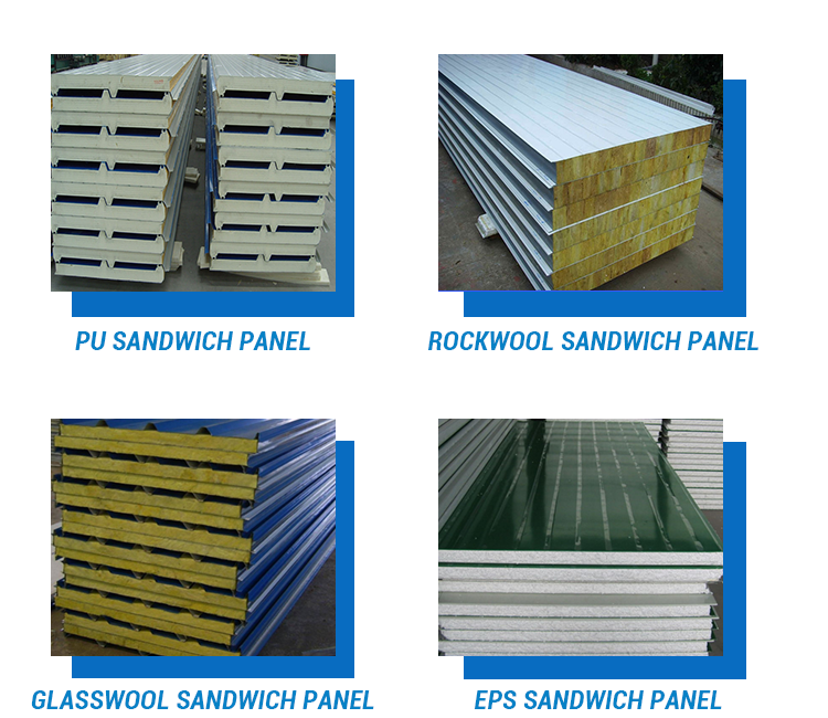 Chinese Factory Fiber Glass Wool Sandwich Panel Price