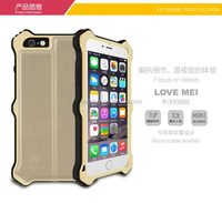 4.7inch!!! Mobile Phone Case For iPhone 6 Love Mei Case, for iPhone 6 Gold Love Mei Metal Aluminum Case for iPhone 6, Love Mei