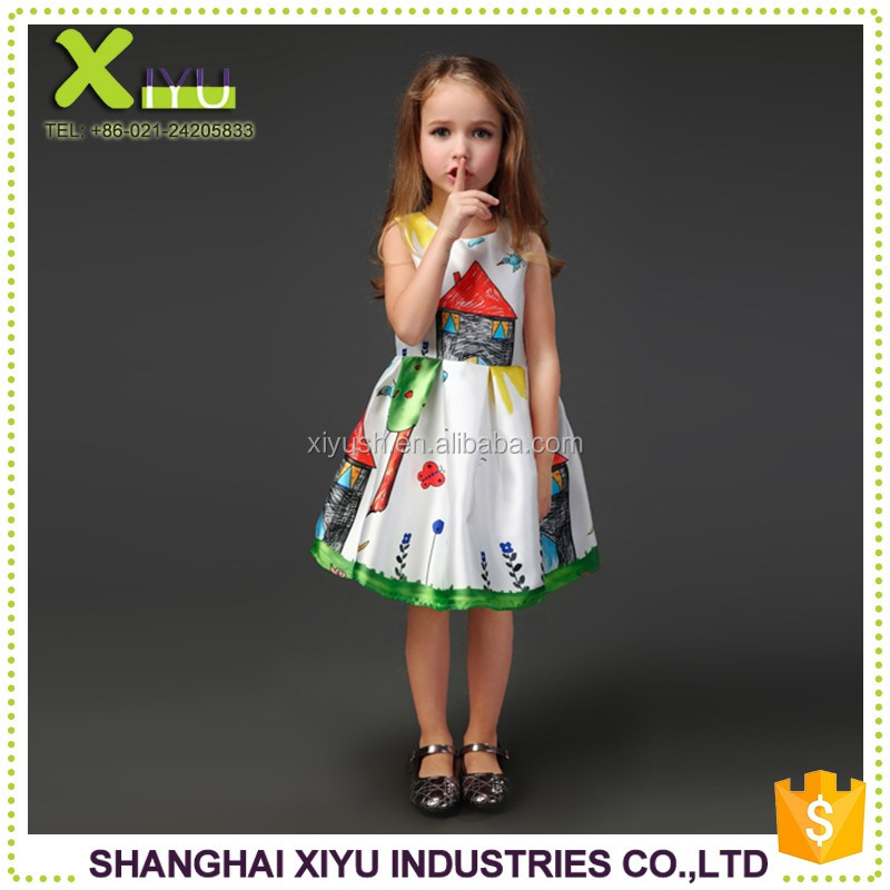 Factory supplier Different Styles children baby girl frocks designs for party