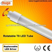 Rotatable G13 base T8 LED tube fit for horizontal & vertical fixture N