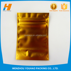 Resonable price 100*150mm Yellow ziplock bags for protective