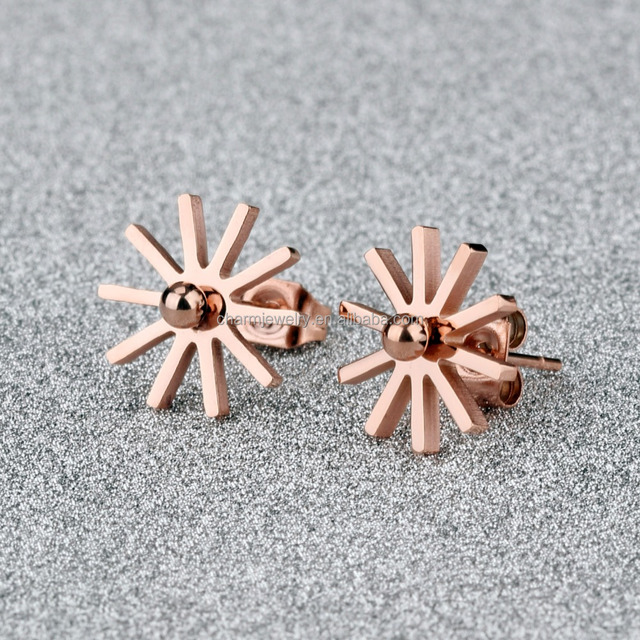 Wholesale new 2016 latest gold stud earring designs for Women Stainless Steel jewelry GE328
