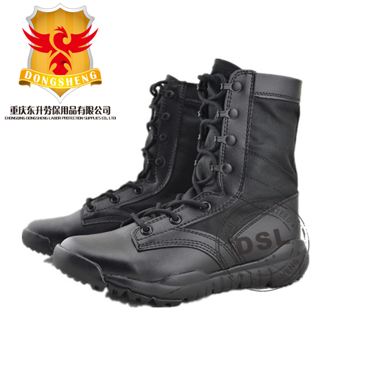 SWAT buffalo leather 1000D Cordura Oxford shock resistance army combat military tactical Eva rubber sole boots for army