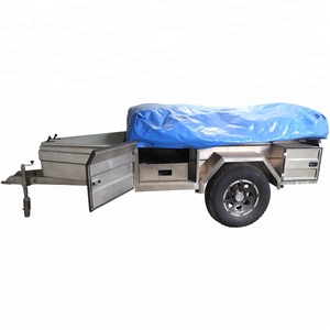 4x4 Hard Floor Soft Roof Folding Camper Trailer with Factory Price for Sale