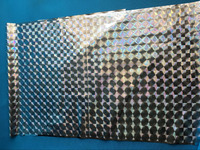PET Hologrpahic Film , Square pattern and Hot sale high quality laser film