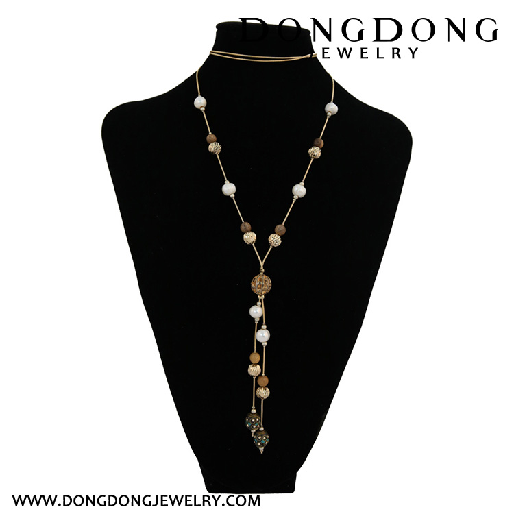 Series of small beads with concave convex pattern Necklace Jewelry Necklace Jewelry Necklace
