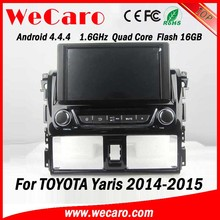 Wecaro Android 4.4.4 car multimedia system double din for toyota yaris sedan car dvd player 16GB Flash 2014 2015