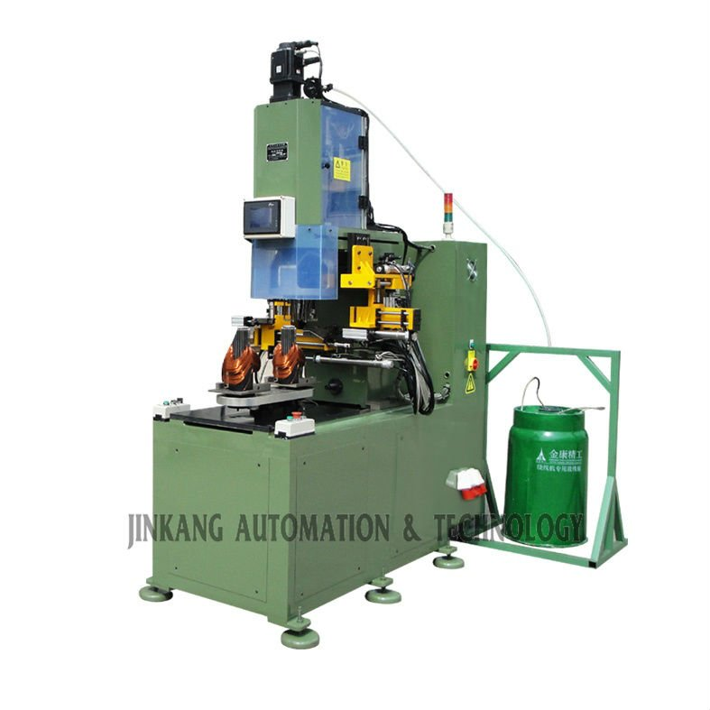 Vertical stator coil winding machines