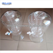 Transparent plastic Buffet juice dispenser