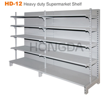 Heavy duty wall tile display shelf, HD-12 model