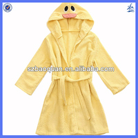 2014 new OEM Animal design cotton kids bathrobes wholesale
