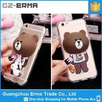 Beauty Cartoon Little Bear Design Phone Case Cover For Iphone 6 plus, Case PC Hard Case With Holder For Apple Iphone 6 plus