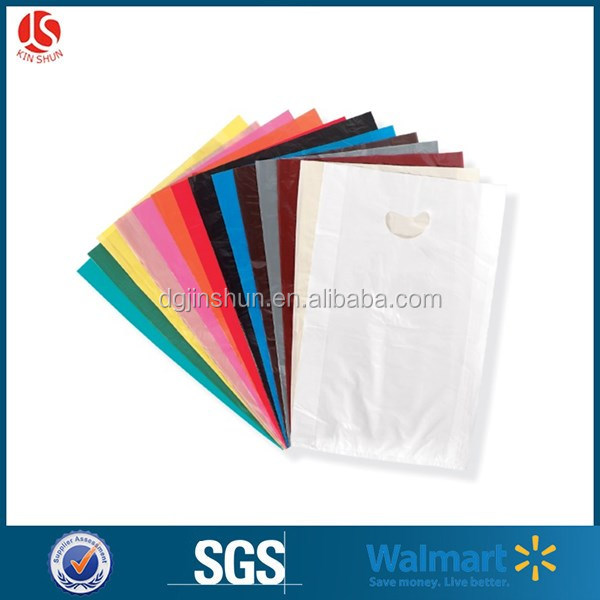 30cm*40cm plastic type ldpe / hdpe promotion die cut bag for shopping