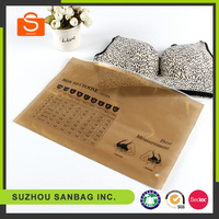 Plastic Hanger Garment Underwear Clothes Packaging PP Bags