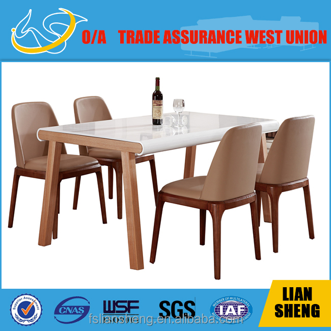 Dt014 Malaysia Modern White Hign Glossy Restaurant Dining Table