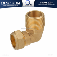 brass compression fitting male elbow 90 degree pipe fitting tube fitting