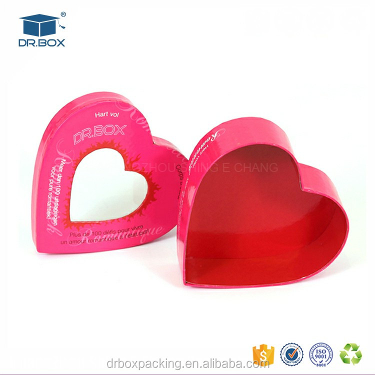 2017 wholesale heart shaped PVC chocolate cavity box with clear lid
