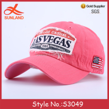S3049 new las vegas applique logo embroidery patch casual cheap hats and baseball caps men