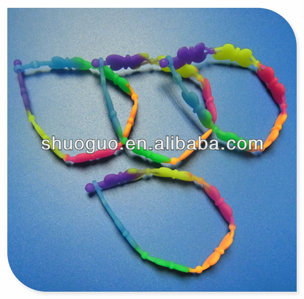 20mm fancy colorful silicone necklace for gifts