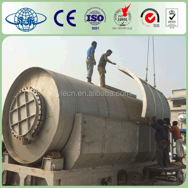 High performance used tire recycling to diesel plant