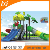 Large children colorful used outdoor playground equipment for sale