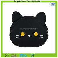 Cat shaped silicone seiner jelly purse for sale
