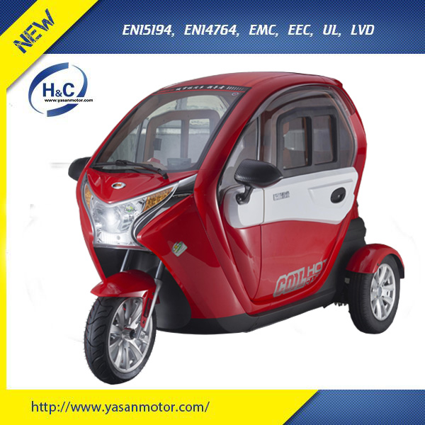 YaBo 1500W EEC Three Wheel Passenger Tricycles With 2 Seats