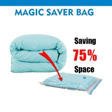 large space reusable cube vacuum storage bag