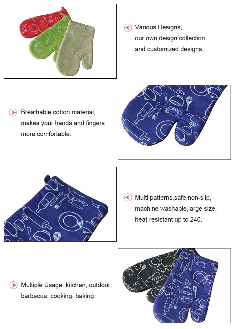 사용자 정의 요리 장갑 장갑 오븐 미트를 인쇄