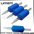 Best Sale blue 1 inch Silicone Tattoo Disposable Grip Rubber grip tube tattoo plastic grip
