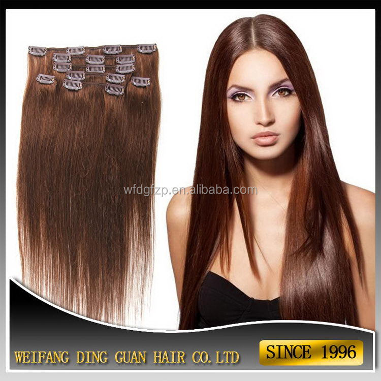 New style manufacture double drawn malaysian clip in hair
