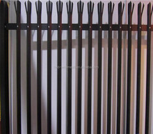 factory cheap sheet metal Euro fence panels,palisade fence