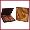 High quality glossy customised wooden map chocolate box