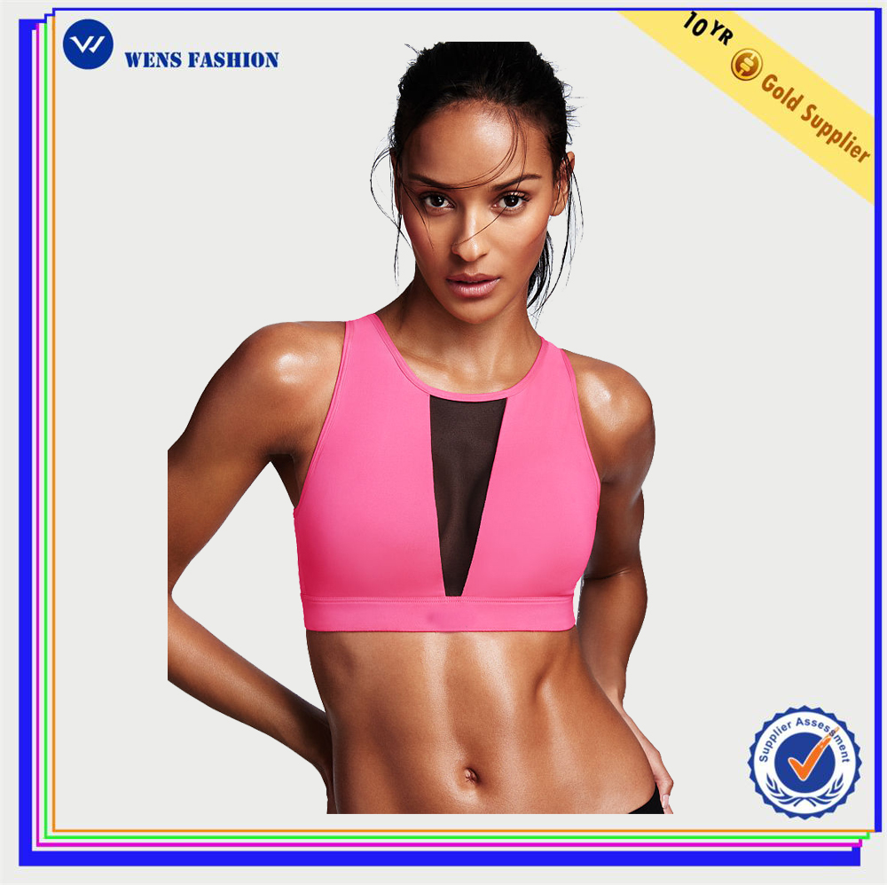 China Factory Contrast Color Vest Fashion Sportswear Yoga Bra