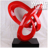 Modern Abstract Stainless Steel Indoor Sculpture for Sale