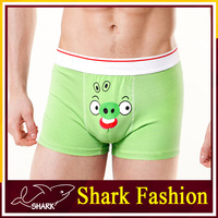 Shark Fashion men's low rise elastane men cartoon underwear with angry bird print