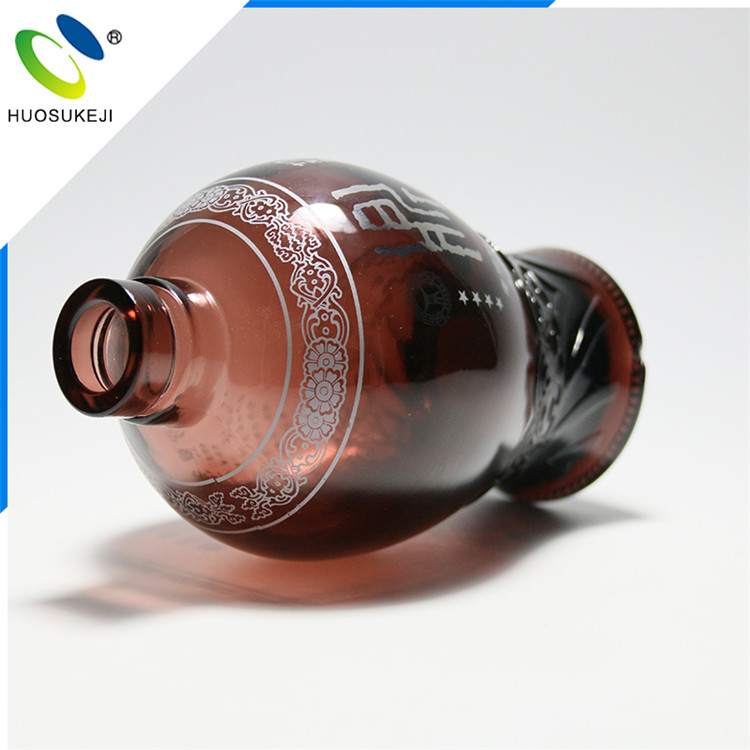 Screen printing 750ml glass vodka bottle from Chinese merchandise