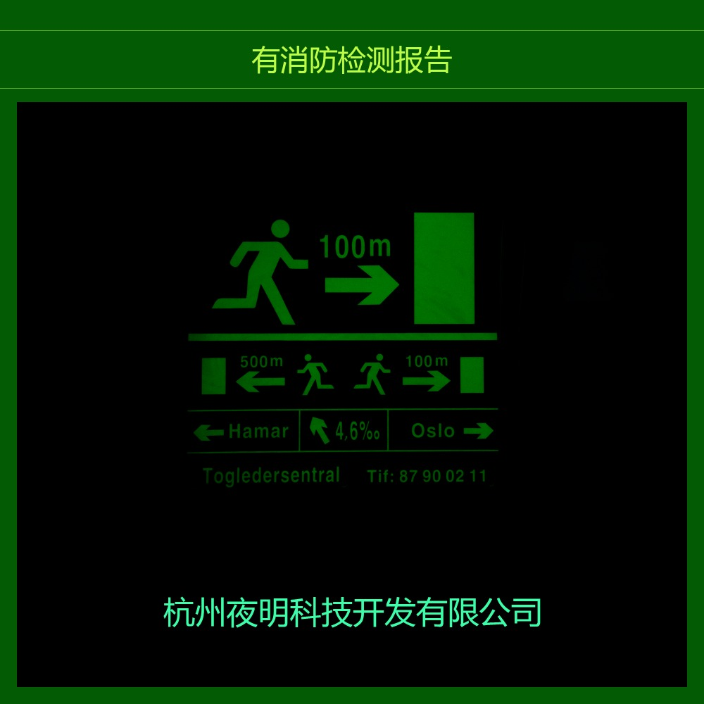 professional photoluminescent fire exit safety signs/glow in the dark safty sign from China printing factory/
