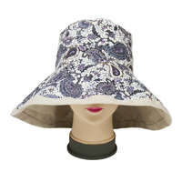 Fashion Priting Sun Beach Bucket Hat For Lady Wide Brim Hat and foldable sun hats