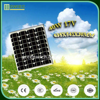 GWIEC Cheap Price 36 Cell Solar Photovoltaic Module Monocrystalline Silicon Solar Cell 40W 17V