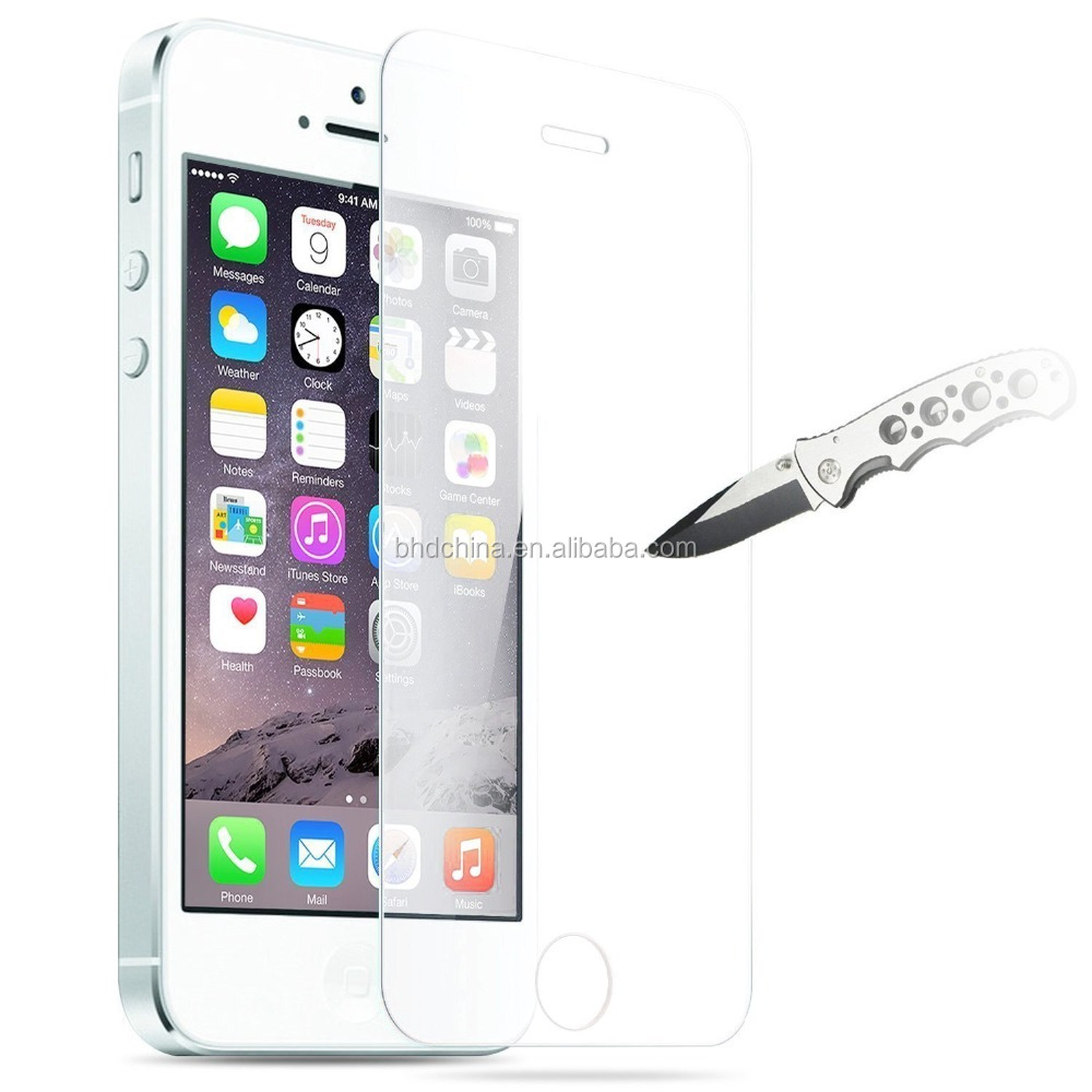 Factory Price 0.3mm 9H Premium Tempered Glass Screen Protector for iPhone5