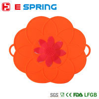 Flower Cookware Parts Multi-function Silicone lid Spill-proof pot lids Silicone Cover Lid For Pan Cooking Tools