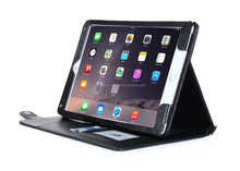 Black Pouch Tablet Cases For iPad Air 2 with shoulder strap