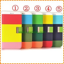 Hot sell rainbow Wallet Leather Case For Iphone 5 5s SE