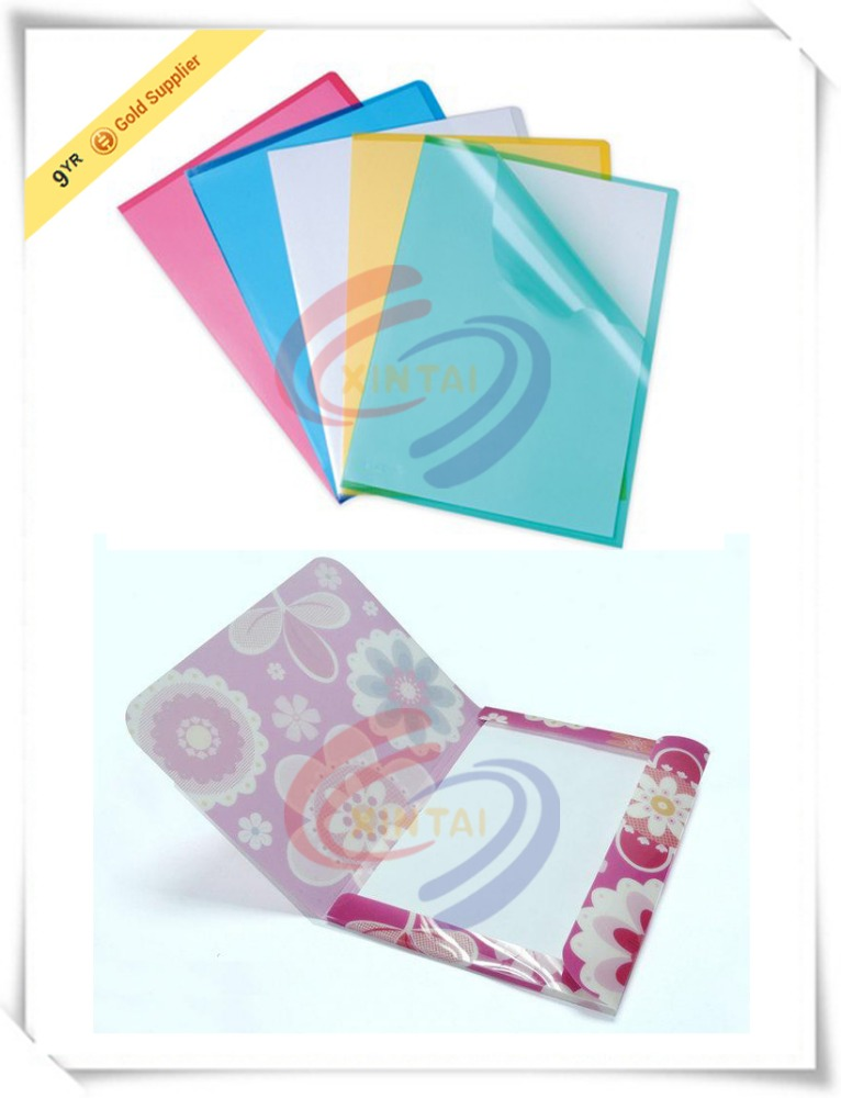New design l shape expanding office supplies a4 a5 FC clear pp file folder