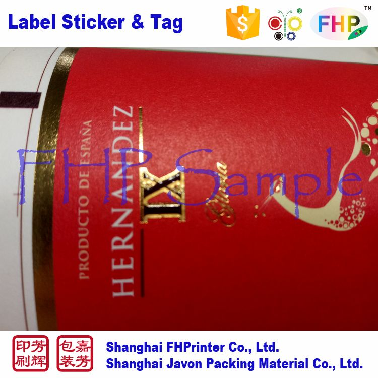 In many styles import grade sticker stick on food label